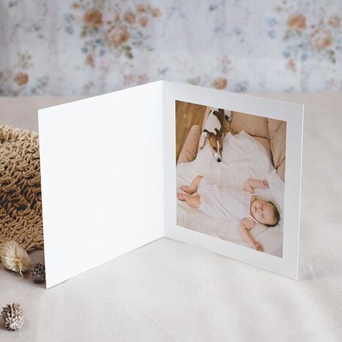 Carte Remerciement Naissance Baby Girl, portofolio, 4 photos pas cher