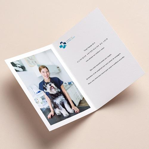 Carte de Voeux Entreprise Animaux NAC, Animalerie, Fond rouge pas cher