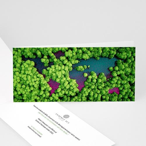 Carte de Voeux Entreprise Oeuvrons pour un monde plus vert, Vernis 3D