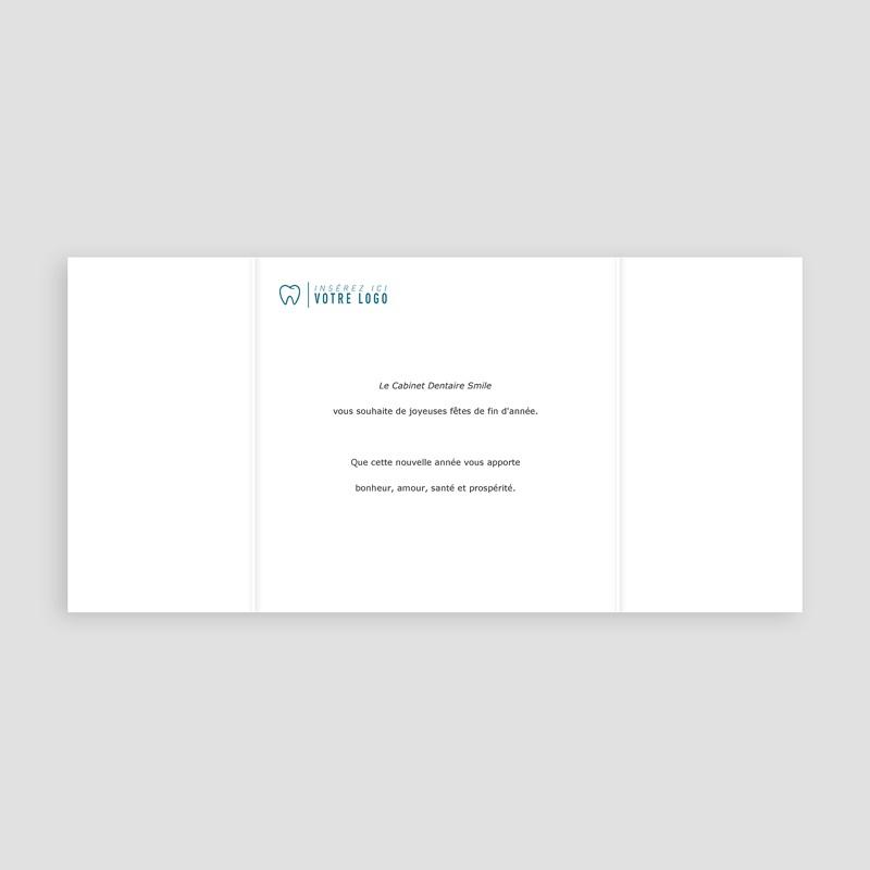 Carte de Voeux Entreprise Orthodontie, Triptyque du sourire pas cher