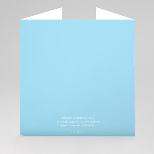 Carte de Voeux Entreprise Orthodontie, Triptyque du sourire gratuit
