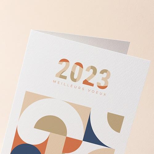 Carte de Voeux Entreprise Corporate, Rétro Bauhaus, Dorure gratuit