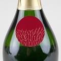 Etiquette Noël Nature, Arbre de vie, Fond Rouge