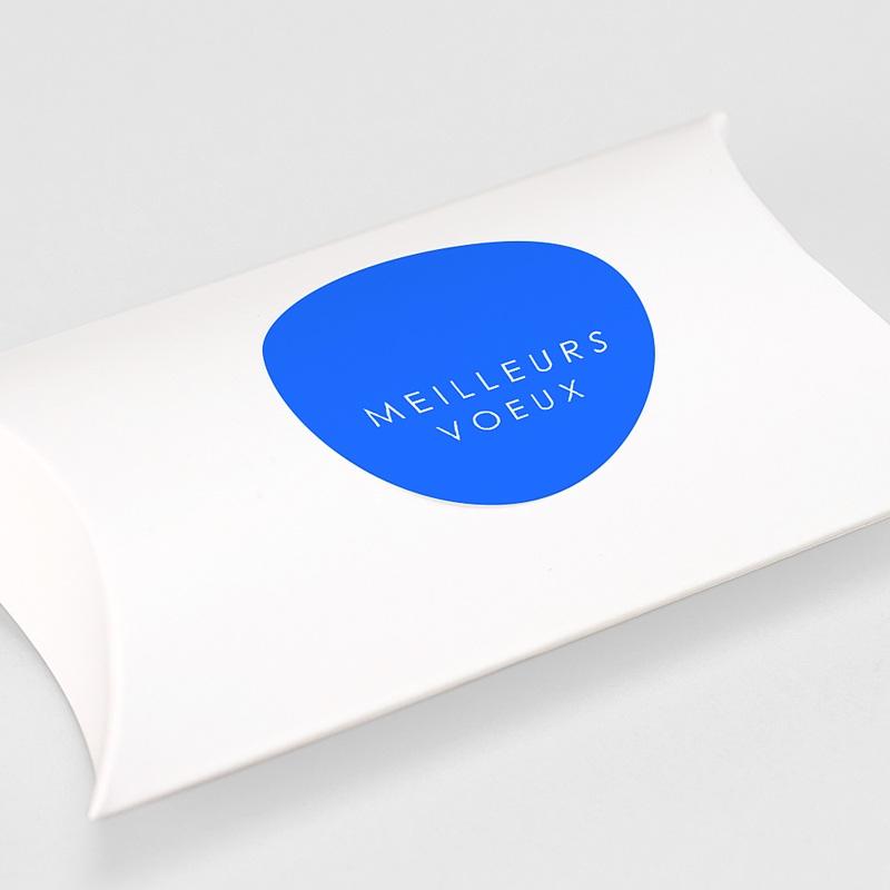 Etiquette Noël Meilleurs Voeux, Bleu, 4,5 cm gratuit