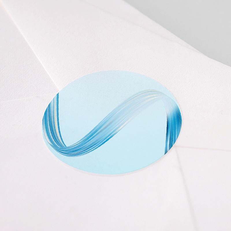 Etiquette Noël Vague bleue, 4,5 cm pas cher