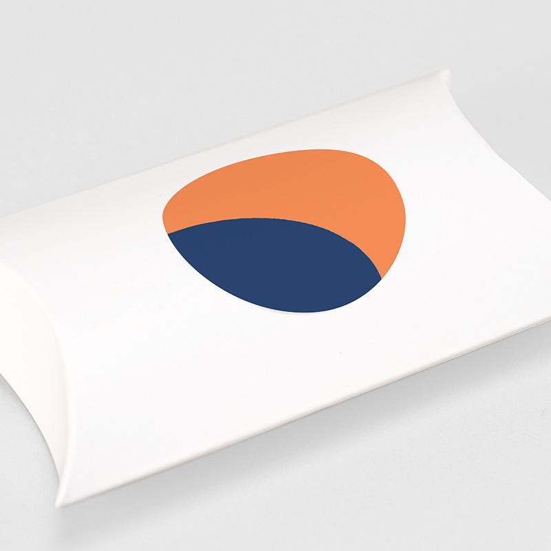 Etiquette Noël Bauhaus, Bleu, Orange, 4,5 cm gratuit