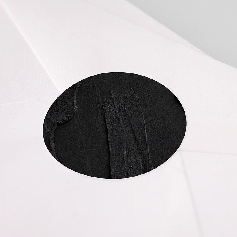 Etiquette Noël Marbre noir, 4,5 cm pas cher