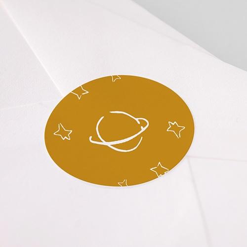 Etiquette Autocollante Naissance Petit Prince et initiale garçon, Sticker pas cher