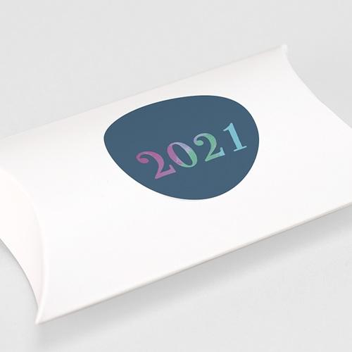 Etiquette Noël Nouvelle Année Pastel, sticker gratuit