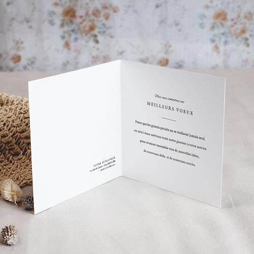 Carte de Voeux Entreprise Hortensias, Motif pochoir, Dorure pas cher