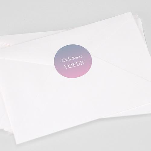 Etiquette Noël Hortensia, Pastel, Sticker