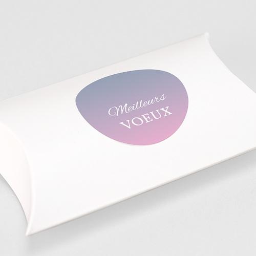 Etiquette Noël Hortensia, Pastel, Sticker gratuit