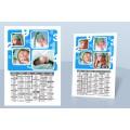 Calendrier Monopage - De 1 à 10 en bleu 8998 thumb