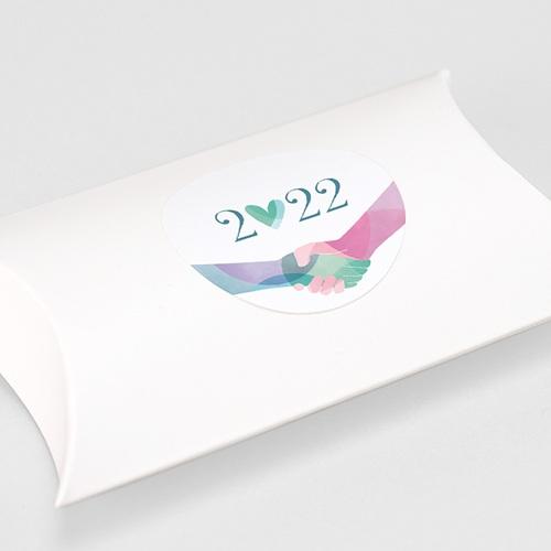 Etiquette Noël Alliance Solidaire, Fraternité, Pastel gratuit