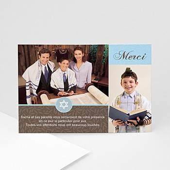 Carte remerciement bar-mitzvah Mitzvah