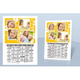 Calendrier Monopage - De 1 à 10 en jaune 9000