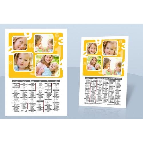 Calendrier Monopage - De 1 à 10 en jaune 9000 thumb