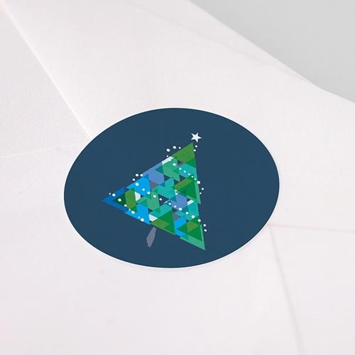Etiquette Noël Noël, Sapin géométrique pas cher