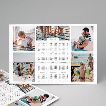 Création calendrier monopage arc-en-ciel de couleurs - mural
