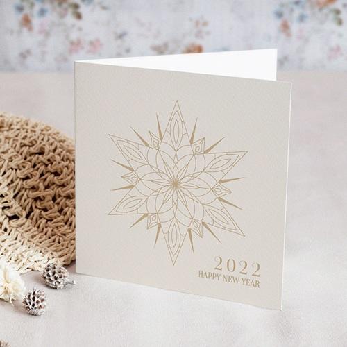 Carte de Voeux Entreprise Etoile de Noël dorée