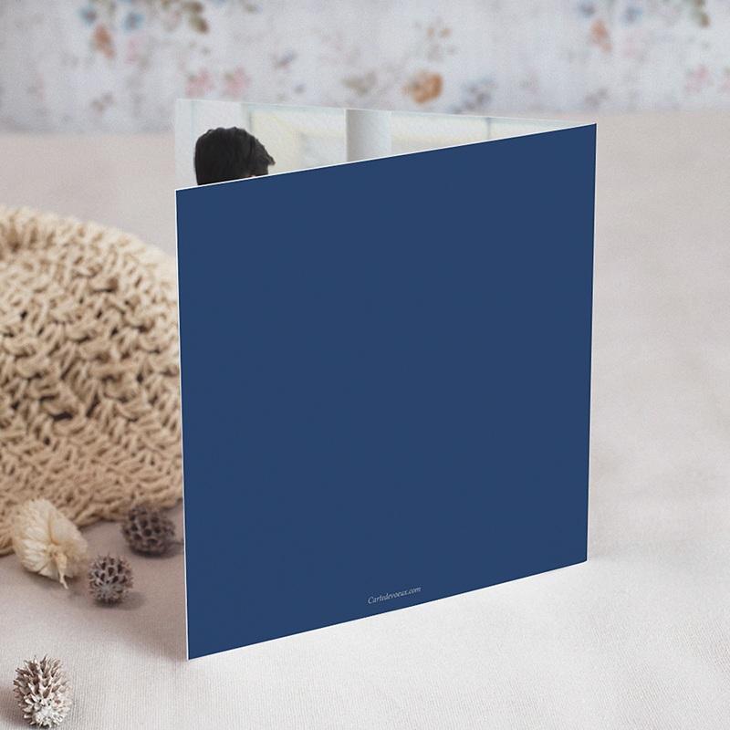 Carte de Voeux Entreprise Sapins Colorés, Rennes Bleus, dorure gratuit