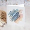 Carte de Voeux Entreprise Frotassé Aquarelle, Pigments Dorés