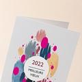 Carte de Voeux Entreprise Pictural, Tâches Colorées, Vernis 3D gratuit