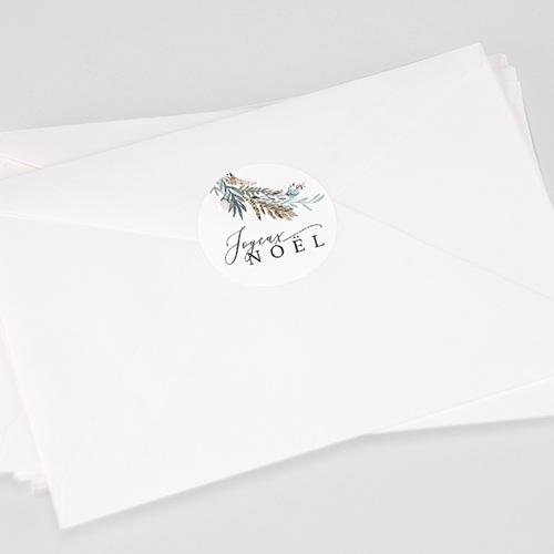 Etiquette Noël Jardin d'hiver, Sticker