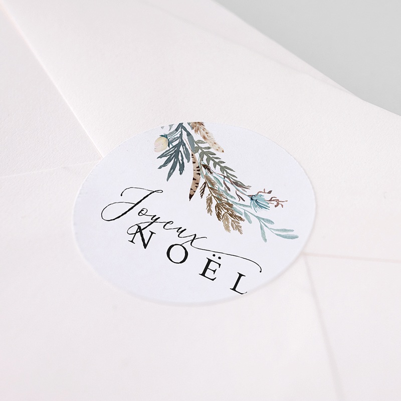 Etiquette Noël Jardin d'hiver, Sticker pas cher