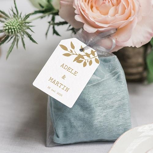 Etiquette Cadeau Mariage Nature White Kraft, 6 x 4 gratuit