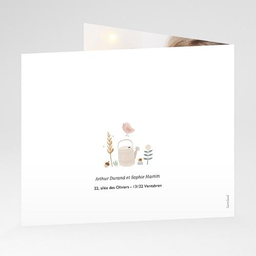 Carte Remerciement Naissance Frère et Soeur Petite Oie d'Automne, Pli décalé gratuit