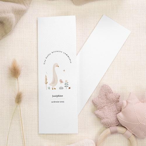 Faire-Part Naissance avec Marque-Page Petite Oie d'Automne