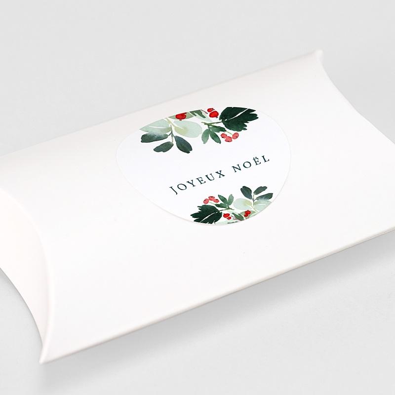 Etiquette Noël Couronne de Noël rustique, sticker gratuit