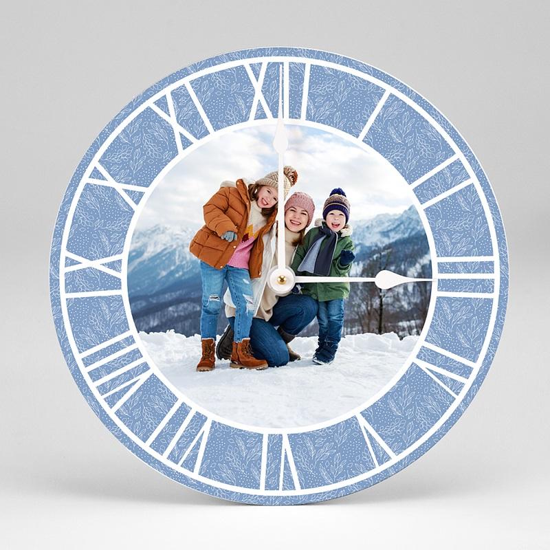 Horloge Personnalisée Photo Gelée Hivernale, Ø 28,9 cm, chiffres romains
