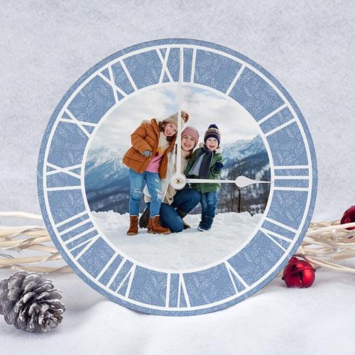 Horloge Personnalisée Photo Gelée Hivernale, Ø 28,9 cm, chiffres romains pas cher