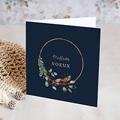 Carte de Voeux Couronne de Noël rustique, double volet