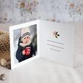 Carte de Voeux Couronne de Noël rustique, double volet pas cher