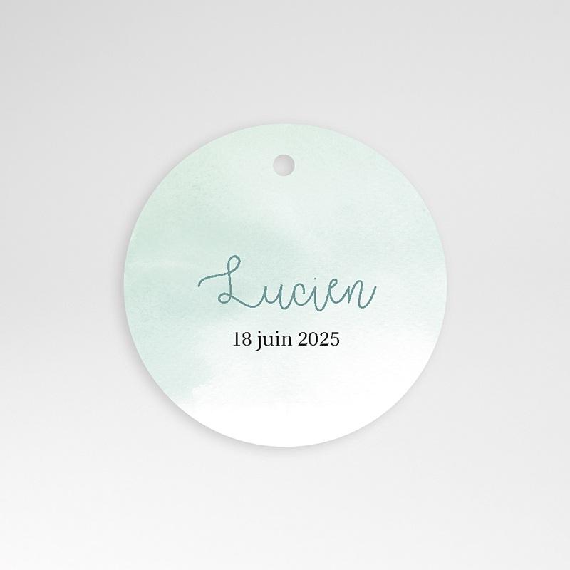 Etiquette Cadeau Naissance Petits Petons, Diam. 4,5 cm, pré-perforé