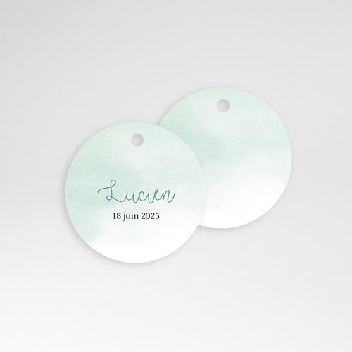 Etiquette Cadeau Naissance Petits Petons, Diam. 4,5 cm, pré-perforé pas cher
