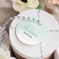 Etiquette Cadeau Naissance Petits Petons, Diam. 4,5 cm, pré-perforé gratuit