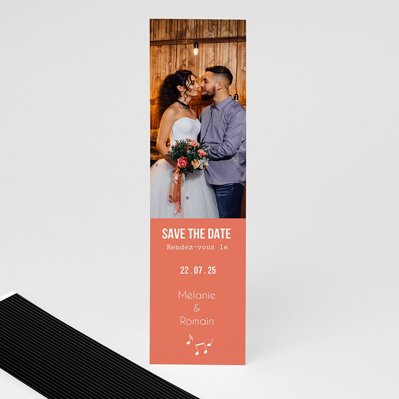 Save The Date Mariage Disque vinyl, Photo, marque-page