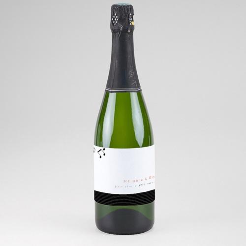 Etiquette Bouteille Mariage Disque Vinyl, Champagne, 8 x 13 cm