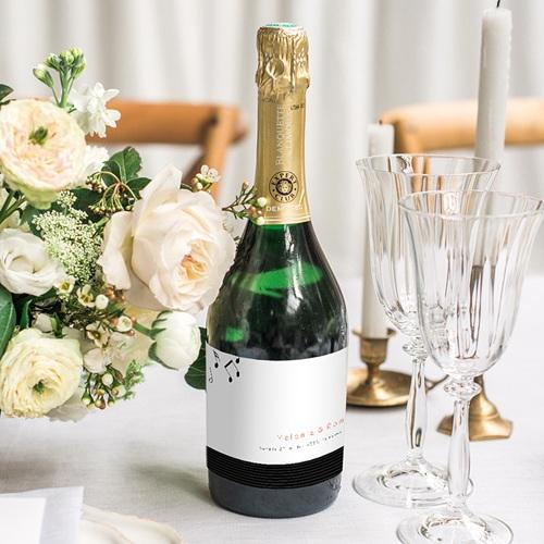 Etiquette Bouteille Mariage Disque Vinyl, Champagne, 8 x 13 cm gratuit