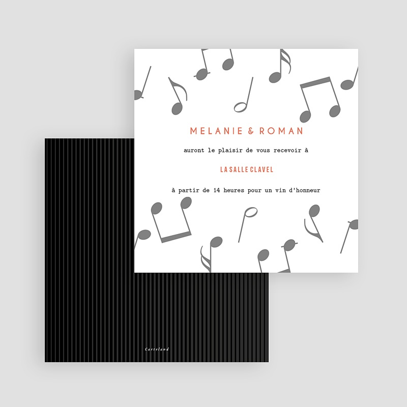 Carte Invitation Mariage Disque Vinyl, Cocktail & Party gratuit