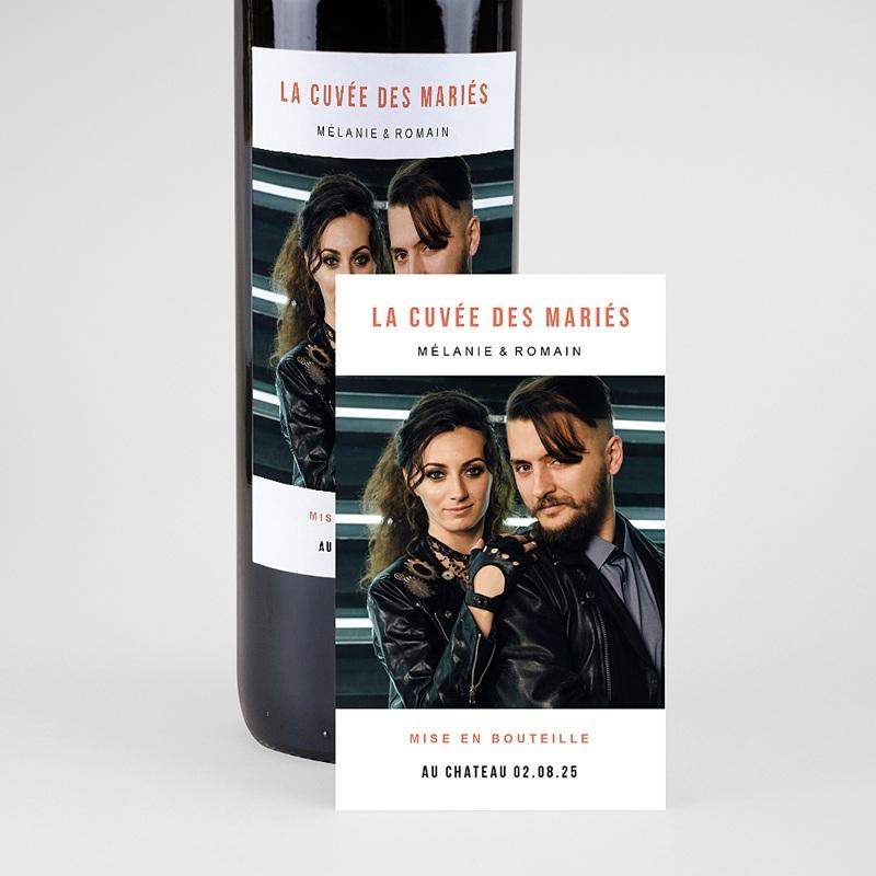 Etiquette Bouteille Mariage Disque Vinyl, Photo, 8 x 13 cm pas cher