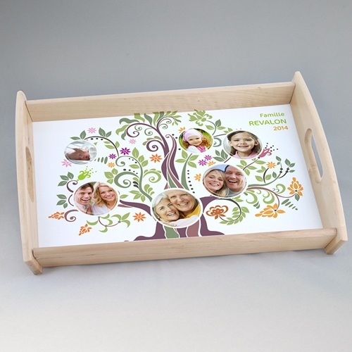 plateau personnalis avec photo arbre g n alogique. Black Bedroom Furniture Sets. Home Design Ideas