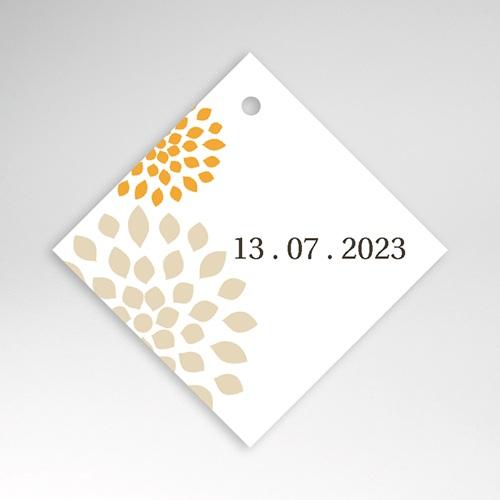Etiquette Cadeau Mariage Ambiance Provençale, 4,5 x 4,5 cm