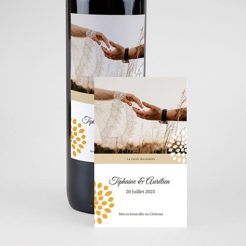 Etiquette Bouteille Mariage Ambiance Provençale, Eau & Vin, Photo pas cher