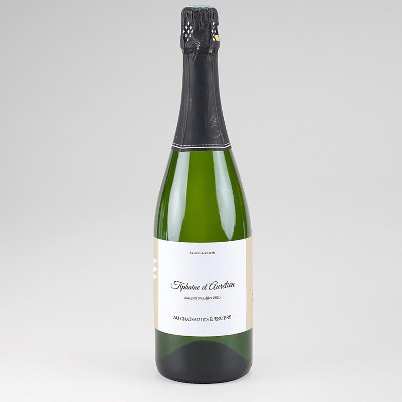 Etiquette Bouteille Mariage Ambiance Provençale, Champagne, 13 x 8 cm