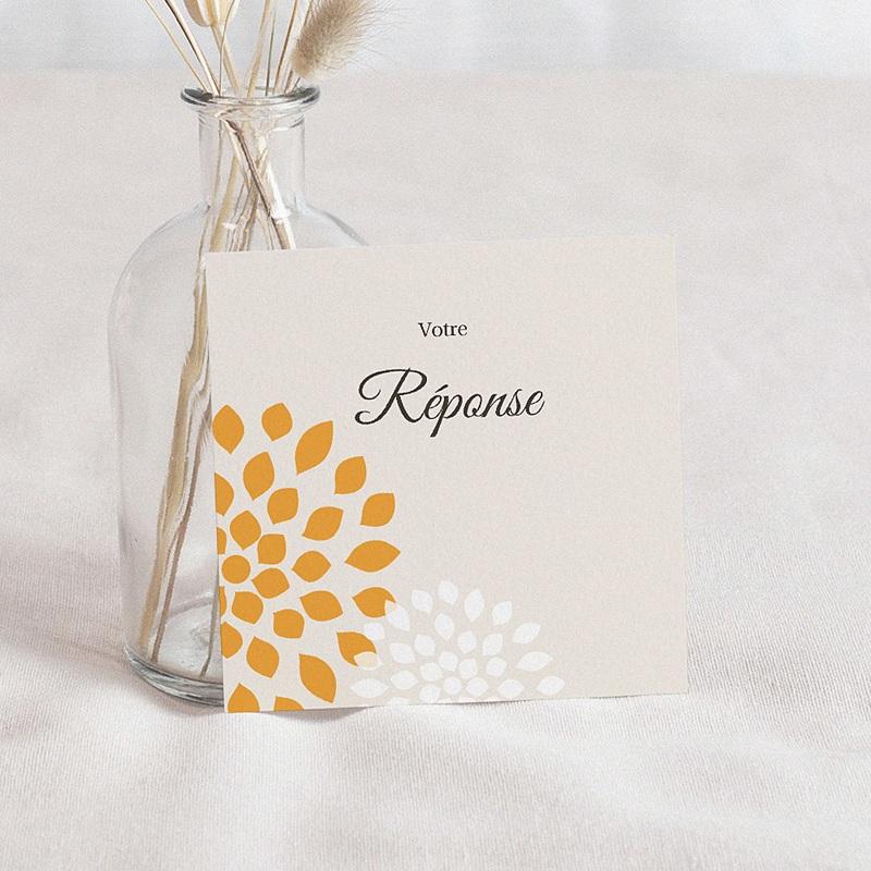 Carton Réponse Mariage Ambiance Provençale, invitation réponse